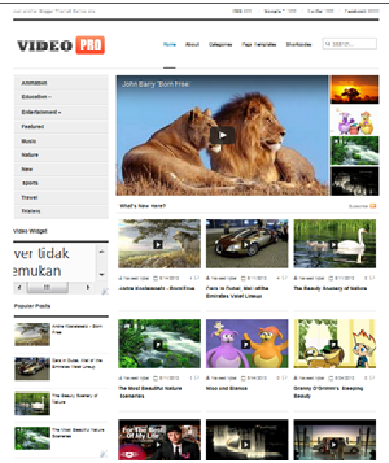 Template VideoPro, template blogger