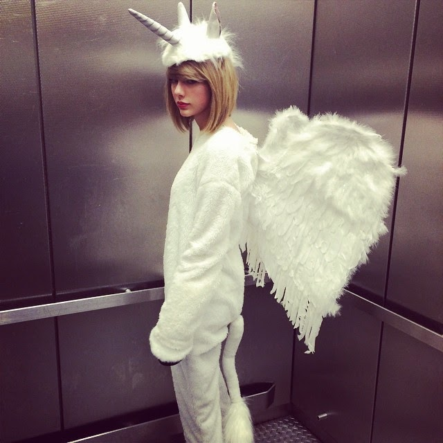 Taylor Swift is Dressed as a Pegacorn for Halloween