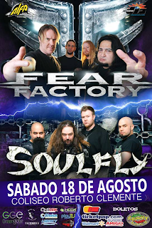 Fear Factory Puerto Rico 2012 Poster