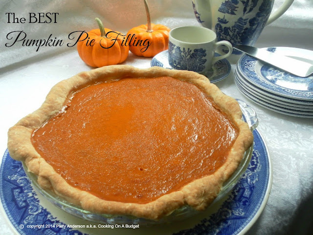 best ever pumpkin pie filling