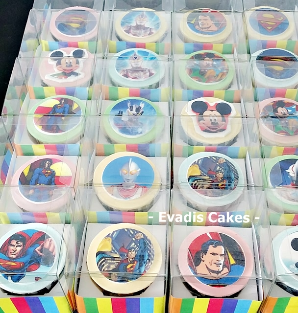 Side view picture of customize image cupcakes