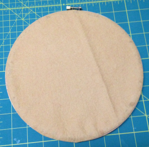 Glue/Stitch the felt to the back