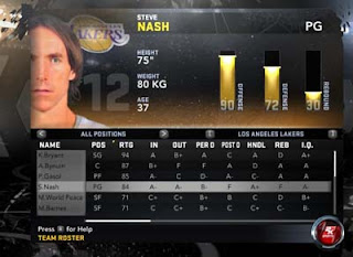 Steve Nash is now on L.A. Lakers