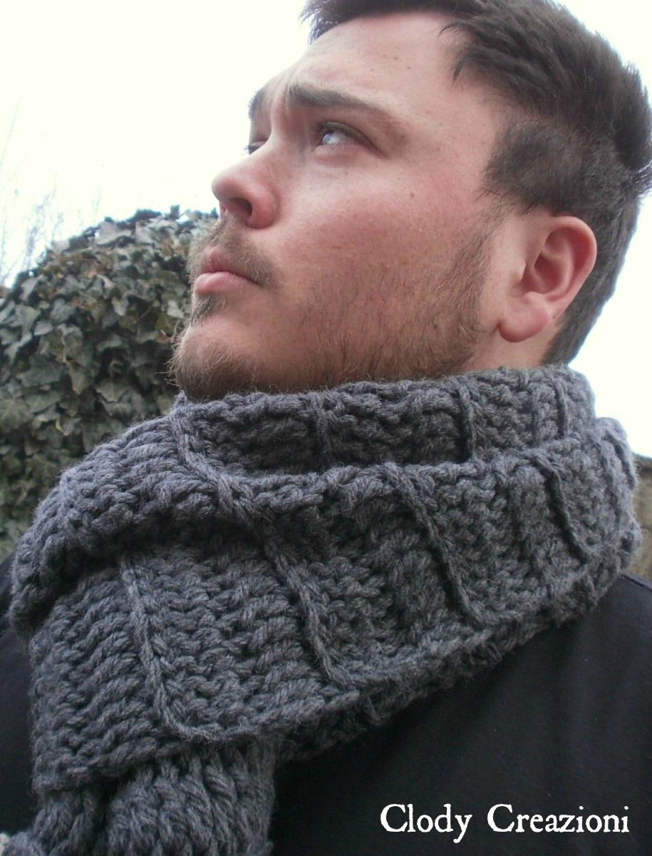 Clody Creazioni Sciarpa Da Uomo A Crochet