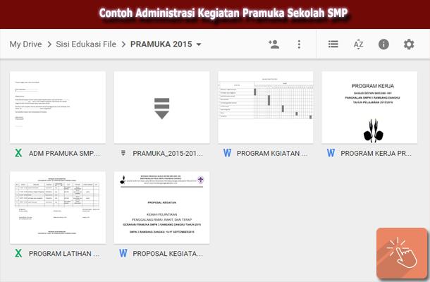 Download Contoh Administrasi Kegiatan Pramuka Sekolah Smp Wiki Edukasi
