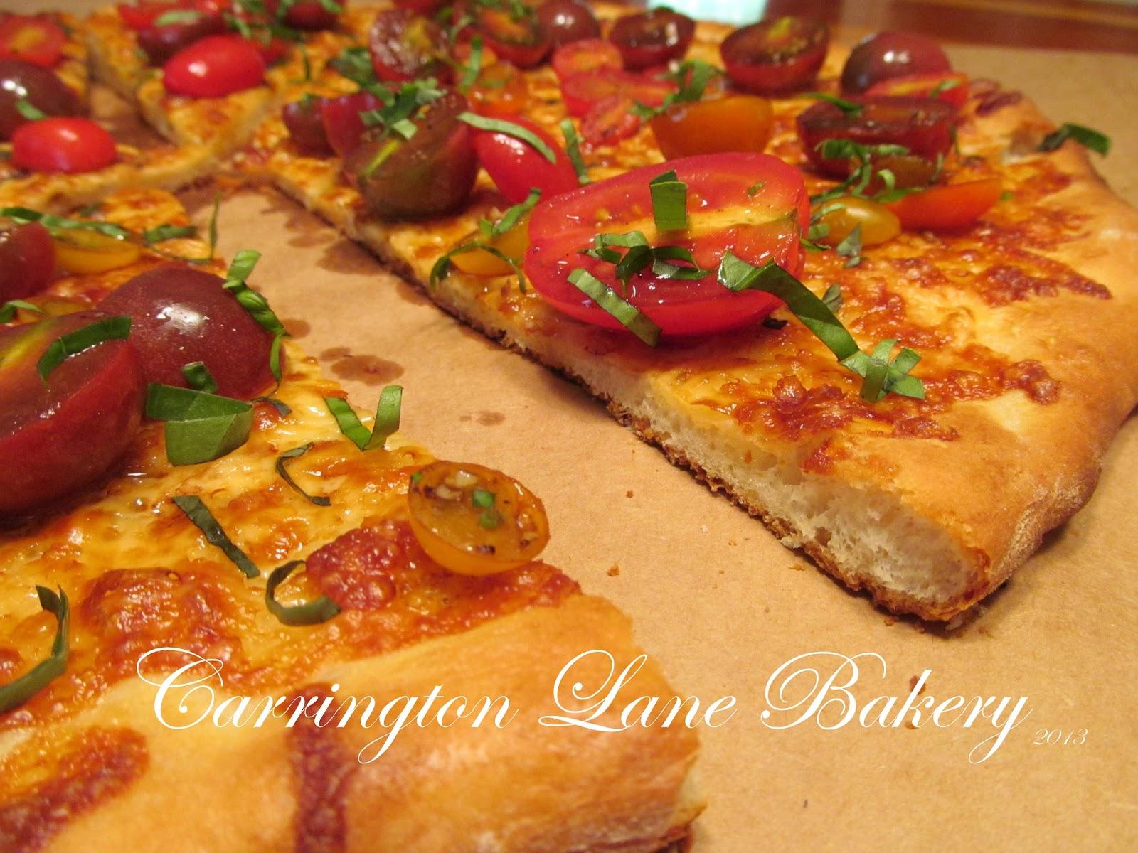 carrington lane bakery marinated garden tomato pizza. Black Bedroom Furniture Sets. Home Design Ideas
