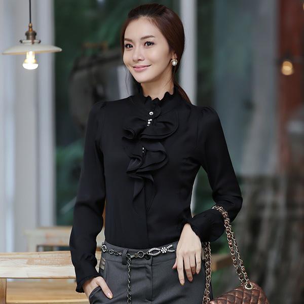 Kumpulan Model Kemeja Wanita Warna Hitam Terbaru 2019 Website