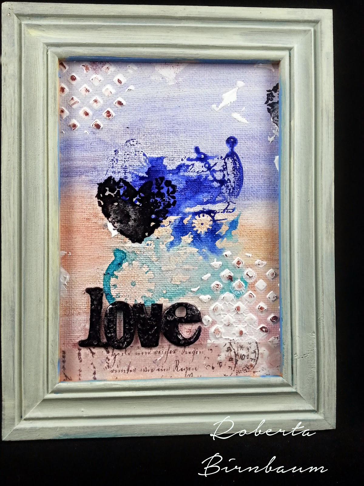 Roberta Birnbaum love canvas board hangable art