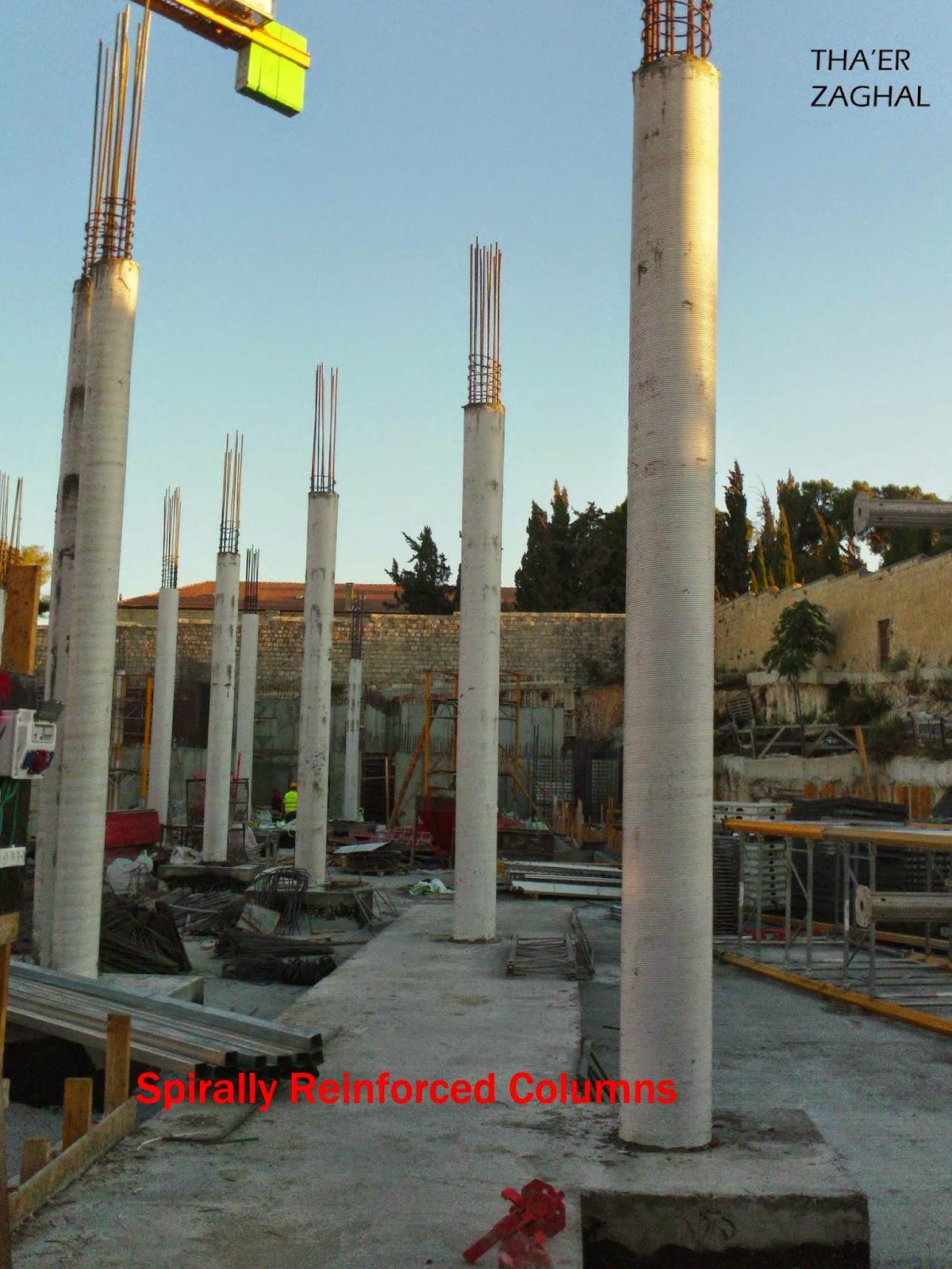 spirally reinforced columns
