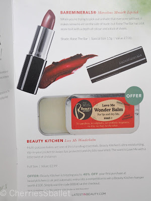 BBB Dream Box IV - BareMinerals Marvelous Moxie Lipstick in Riase The Bar, Beauty Kitchen Love Me Wonderbalm