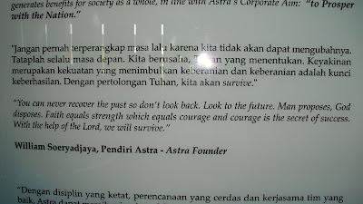 Kata-kata motivasi dari William Soeryadjaya (pendiri Astra)
