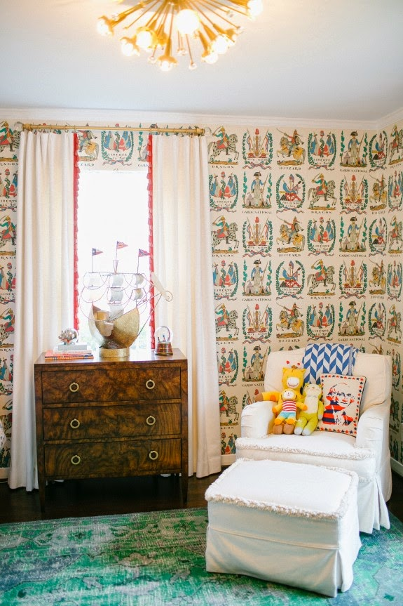 The Owner Was Inspired To Used Wallpaper After Seeing This Room In D Magazine