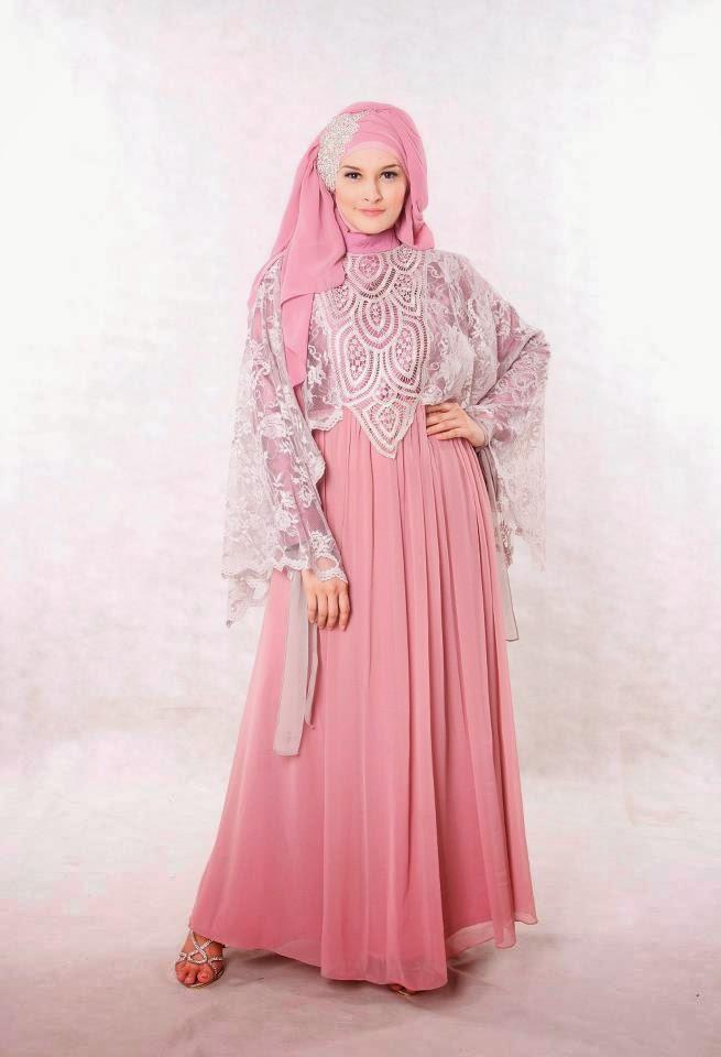 20 contoh model baju muslim untuk pesta terbaik 2015 Baju gamis pesta muslim