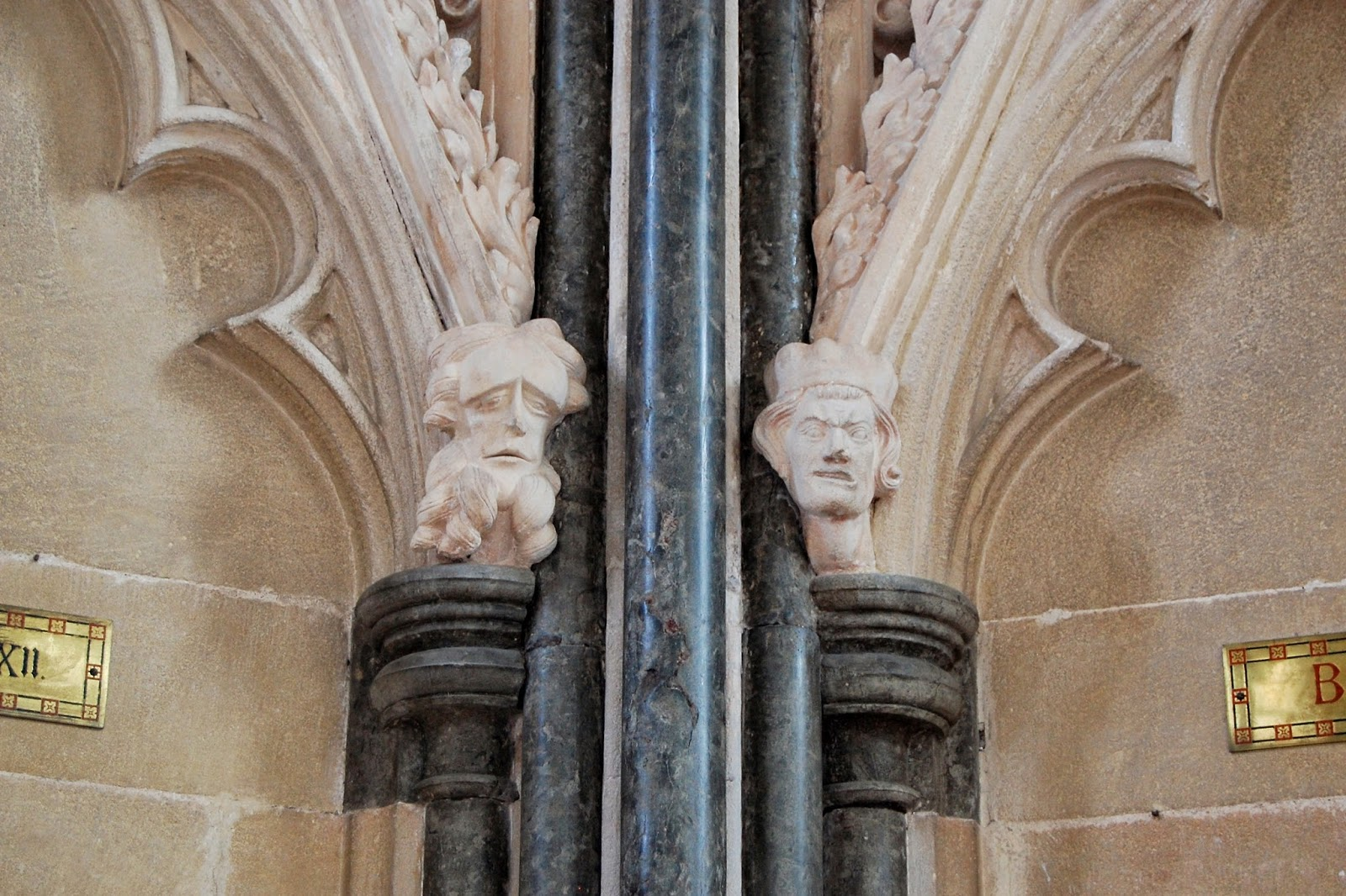 More carved heads in the Chapter House
