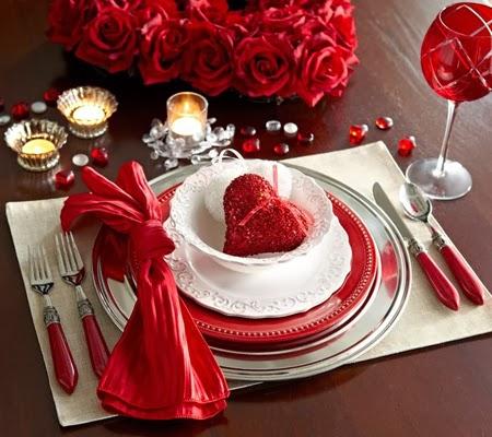 Романтична декорация за маса за Свети Валентин