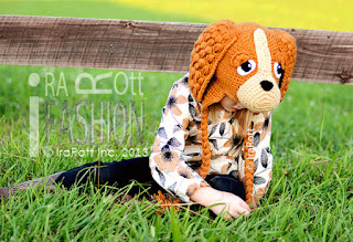 COCO THE SPANIEL PUPPY DOG ANIMAL HAT PDF CROCHET PATTERN