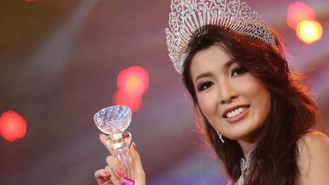 Miss Universe Myanmar 2013 winner Moe Set Wine