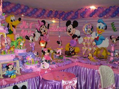 Children parties minnie mouse decoration - Decoracion fiesta jardin ...