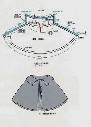 Классическая пелерина - макинтош крючком