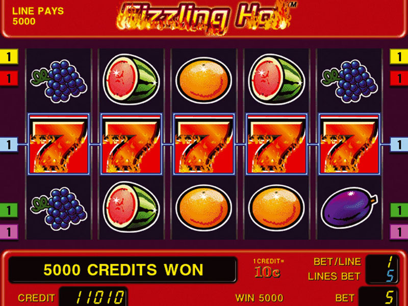 slot machine games online sizzlin hot