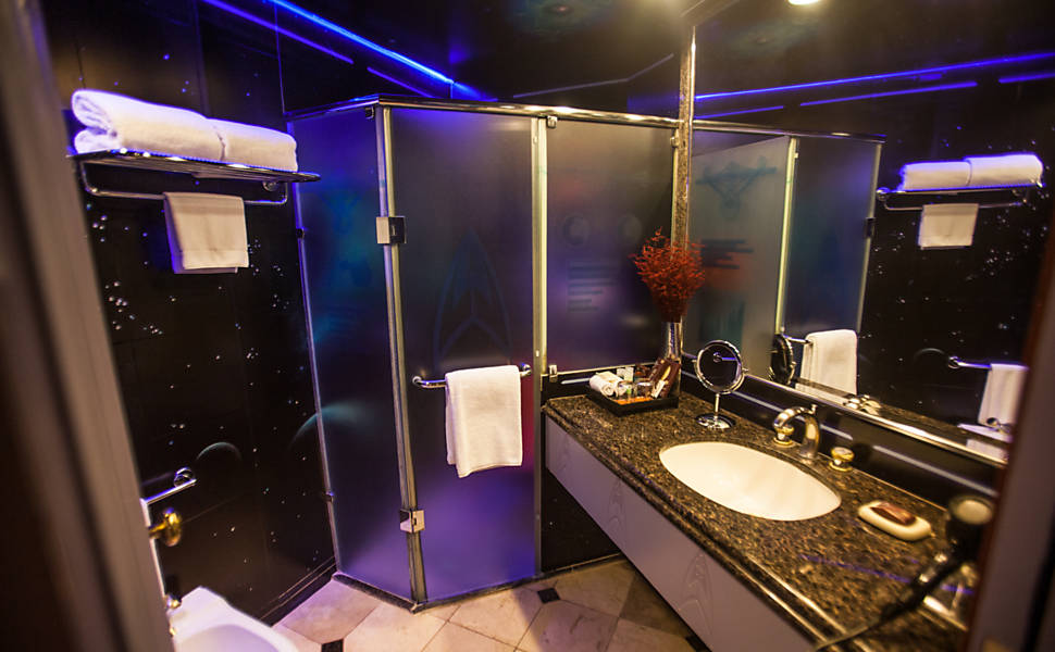 The trek collective star trek hotel for Space themed bathroom