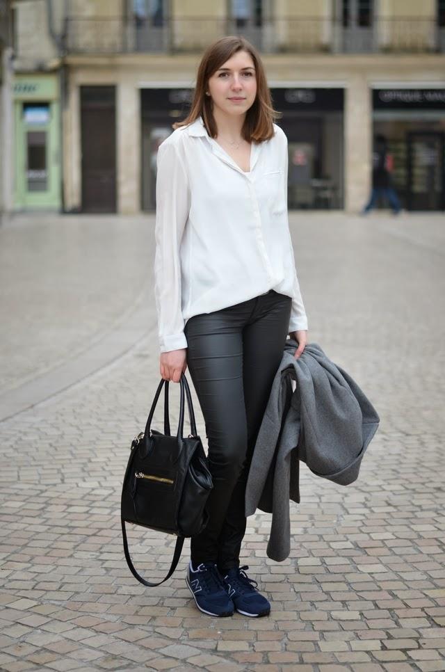 new balance marine chemise blanche