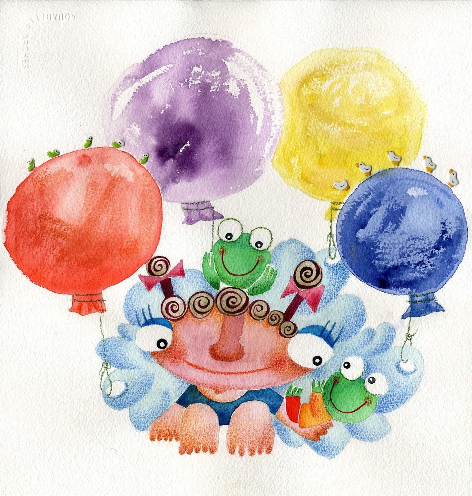 """Ilustración que realicé para el cuento """"Lápices de algodón"""" de Pilar Ugarte."""