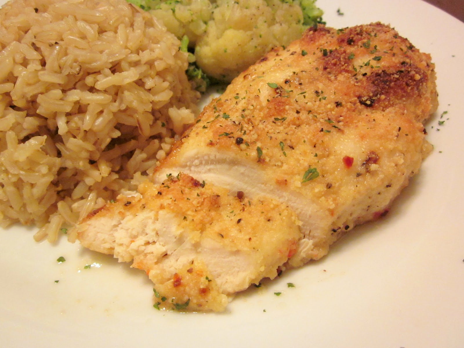 The Thinking Blonde: Super Easy Recipe: Baked Parmesan Garlic Chicken