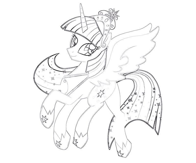 Coloring Pages Of Princess Twilight Sparkle : Mlp base alicorn coloring pages