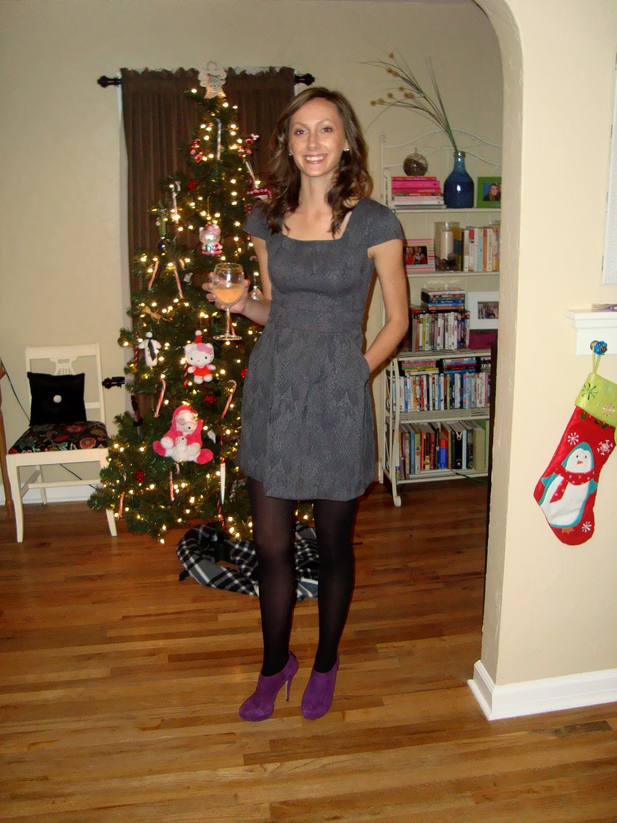 Leopard and lavender what to wear office holiday party