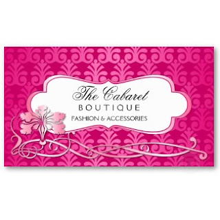 sophisticated and elegant describes my latest business card design the background pattern was created to give it a look of shimmer - Boutique Business Cards