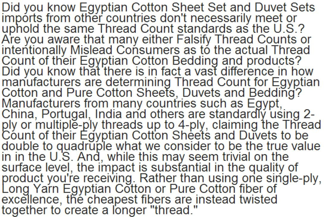 28 what s the best thread count for sheets luxury egyptian