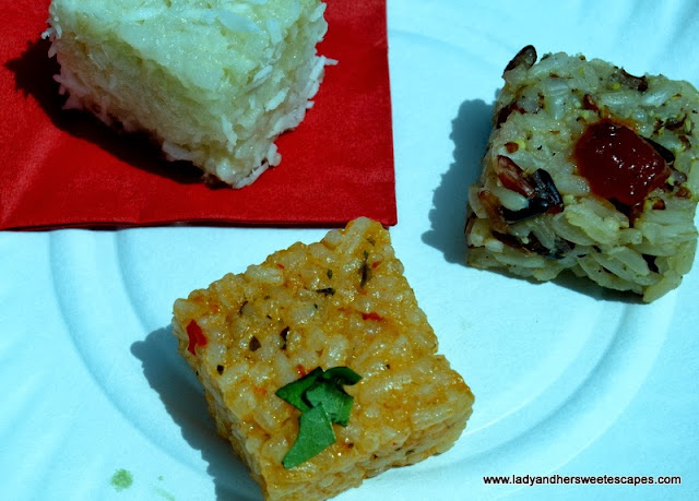 cool and delicious rice cubes made with Rice Cube Sushi Maker