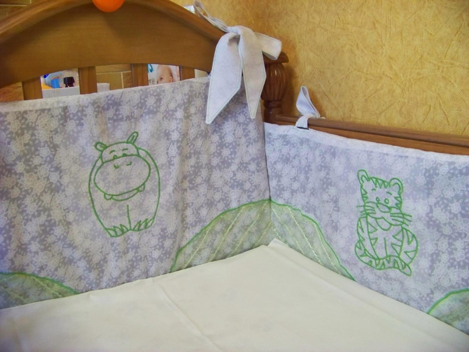 Бортики в кроватку малыша своими руками: идеи, выкройки 70