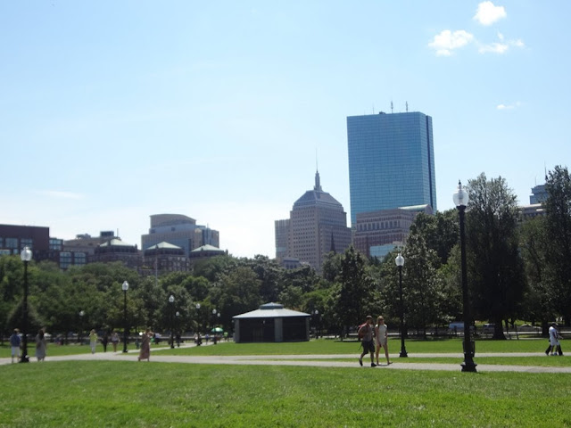 Boston skyline, from the Boston Commons