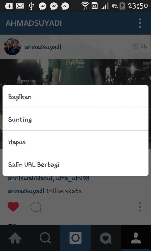 Cara Simpan gambar foto teman di instagram