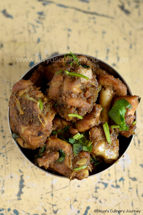 Chicken fry made in Andhra style