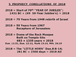 5 PROPHECY CORELLATIONS OF 2018