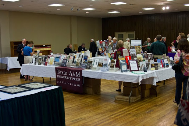 The book dealers room at the East Texas Historical Society fall meeting 2012
