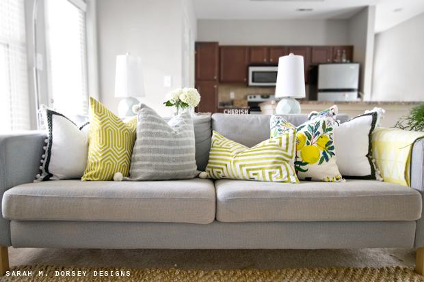 Spring Pillows + Super Easy DIY Pillow