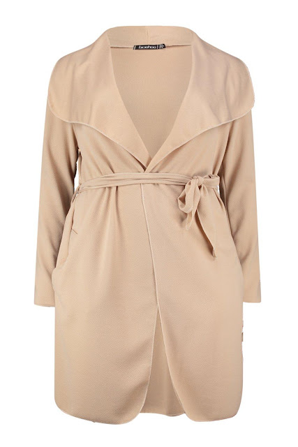 Plus Size Waterfall Coat Neutral For Spring