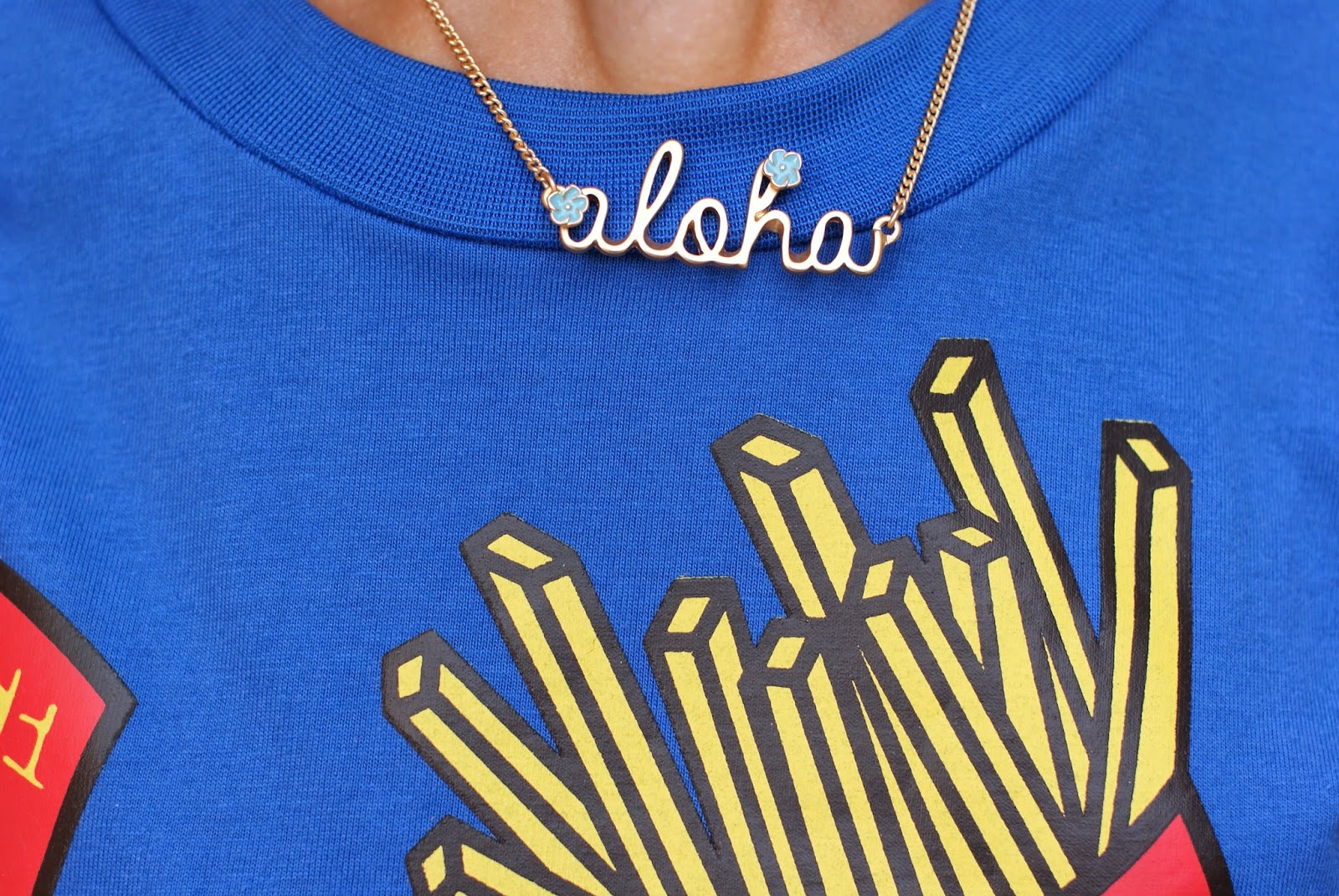 Aloha necklace, Pull and Bear necklace, Fashion and Cookies, fashion blogger