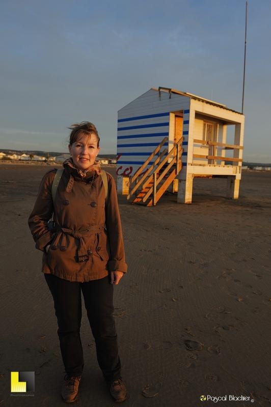 Valérie Blachier au lever du soleil à Gruissan photo pascal blachier