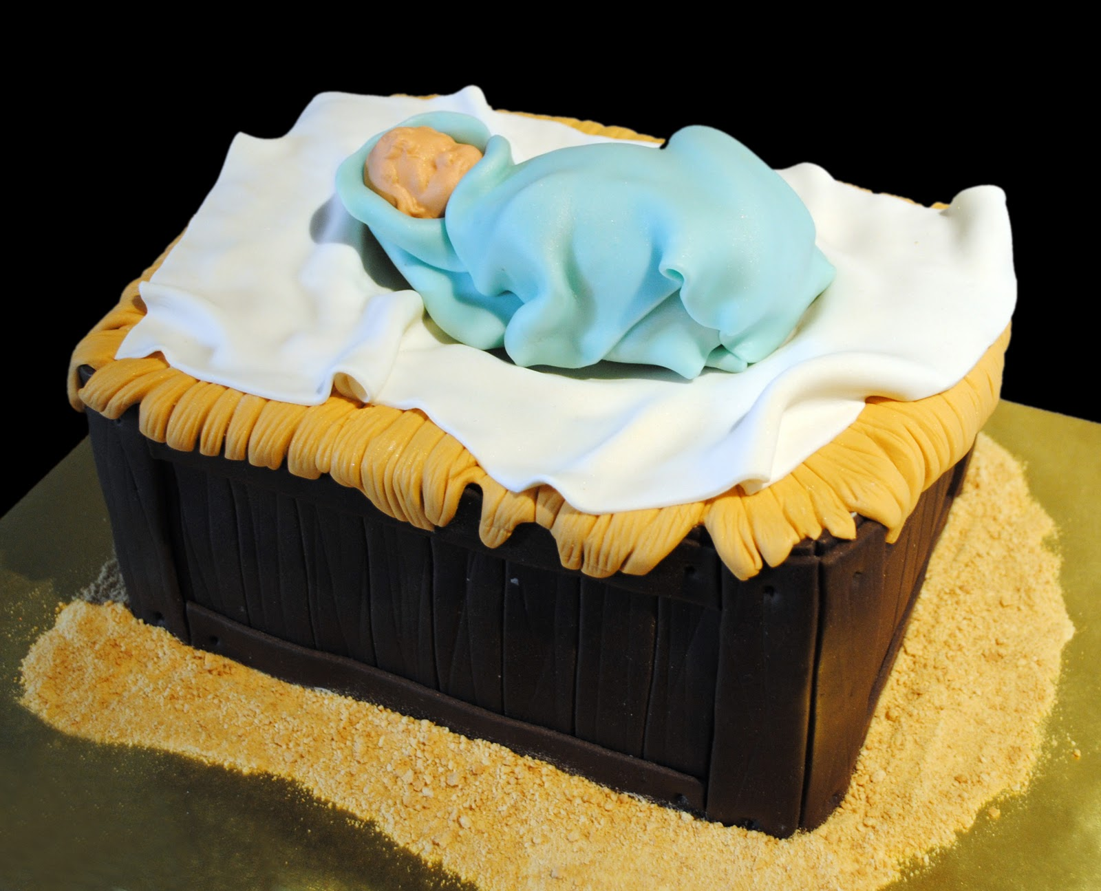 The Cake And The Frog Nativity Cake