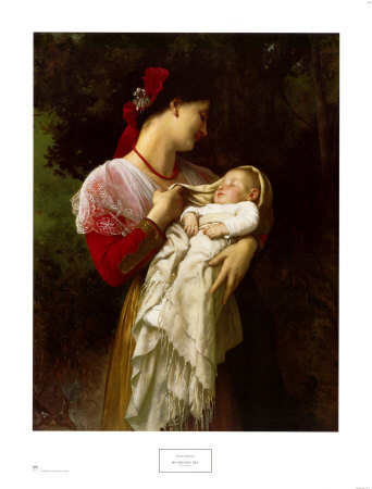 威廉·阿道夫·布格罗(William Adolphe Bouguereau)的《母子》