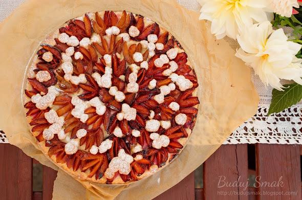 Ciasto ze śliwkami na kruchym spodzie