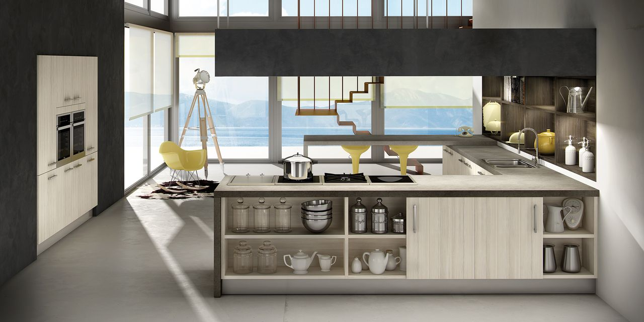 Mur d 39 armoires for Cuisine design