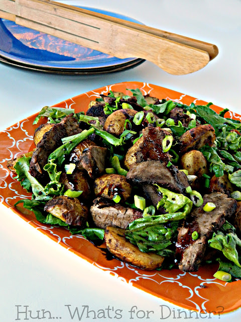 Steak and Potato Salad using BBQ Ready Kits from The Little Potato Company
