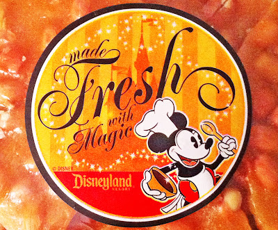 Disneyland candy Peanut Brittle Main Street label chef Mickey