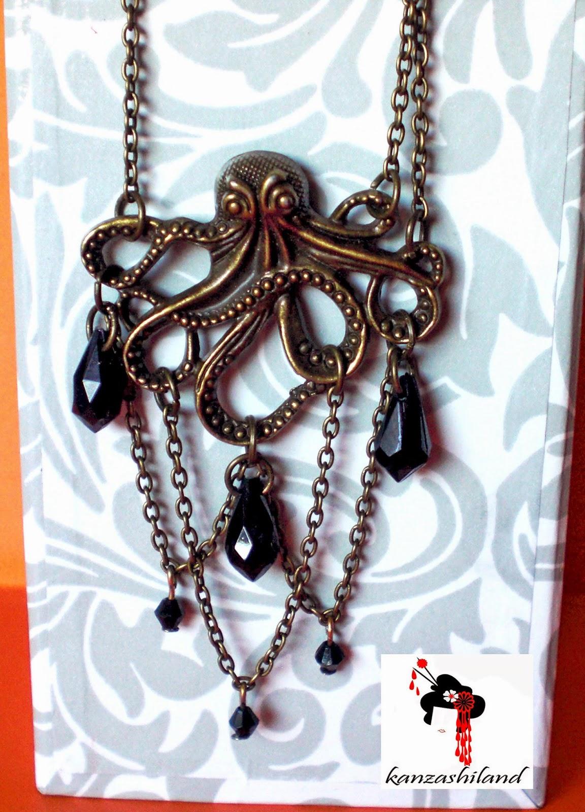 Cthutlhu pendant by kanzashiland
